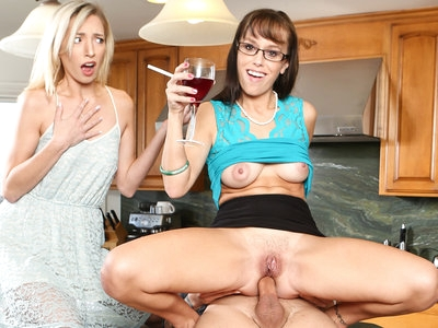 MILF slut Alana Cruise ass fucked in the kitchen by big cock