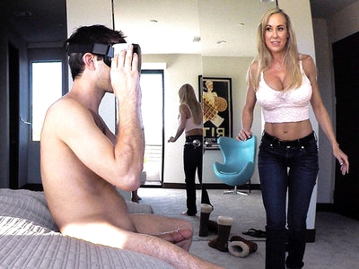 Stepmom Plays With Gamer Son's Joystick
