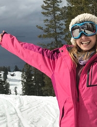 Sexy babes Kristen Scott and Sierra Nicole are back for another round of unscripted fun with Tyler Nixon. Today the trio takes on the slopes once again with a break for hot chocolate before heading back outdoors. Now that she's refreshed, Kristen can't wait to put something else nice and hot in her mouth, so she pulls Tyler off to the side of the mountain and wrap her soft lips around his big stiffie. Her excitement is obvious as she licks and sucks and strokes to her heart's content.Sierra isn't about to let Kristen have all the fun. When she finds herself on the ski lift with Tyler, she whips his stiffie out to blow him as well. That's just the prelude to a more thorough cock sucking when they find a secluded spot on the slopes where Sierra can kneel down and really go to work with her sweet mouth. This persistent blonde won't stop until Tyler fills her whole mouth with cum for her to enjoy!Back at the cabin, Kristen and Sierra find that they just can't keep their hands off of one another's certified nubile bodies. They take their time peeling each other's clothes off, and soon Sierra finds herself on her hands and knees with Kristen's tongue probing her anus and her fingers buried between her thighs. Sierra is quick to return the favor, burying her face in Kristen's greedy fuck hole. Now that the girls have gotten started, they take turns working their fingers and tongues on each other's slippery snatches until they are finally sated.