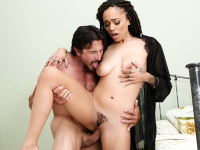 Horny Julie want her hair pussy pounded by Tommy's cock.