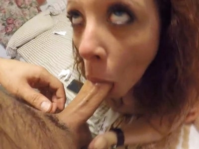 Cheating Mom Deep Throat Fuck n Swallow in Front of Husband