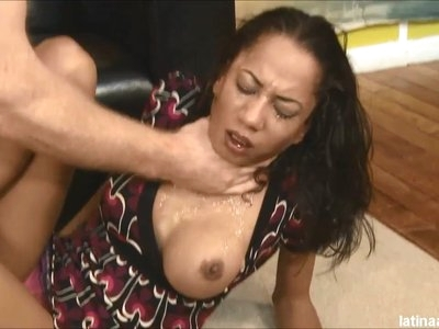 Latina Throats skank Mya Mason mouth and ass demolished