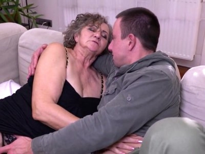 Hairy MILF and GILF takes big white dicks