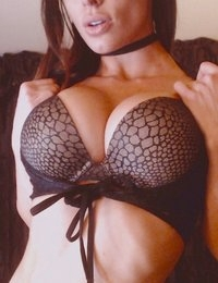 Angelina Stevens in a sexy bra and tiny thong