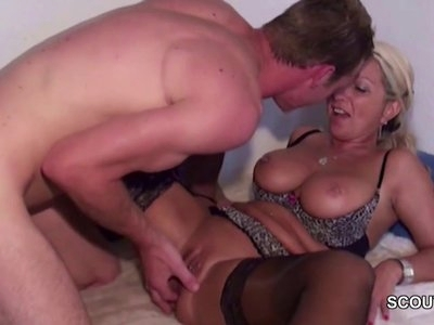 German Step-Mom in Lingerie Anal Fucked by Big cock Step Son
