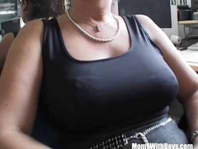 MomsWithBoys Office Fuck With Mature Brunette Slut