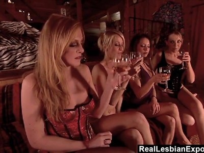 RealLesbianExposed - Lesbian Orgy With Four Amazing Goddesse