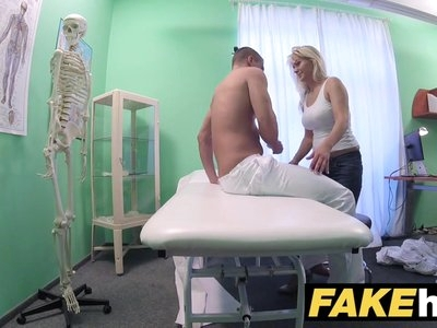 Fake Hospital Big tits horny Milf chiropractor fucks doctor