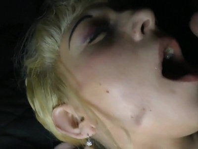 Trucker fucking Russian blonde whore and cum in mouth