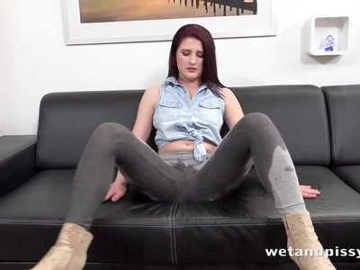 WetAndPissy - Mag Ray gets drenched in pee in solo pissing