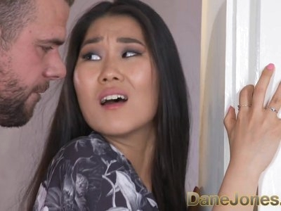Dane Jones Young Asian in robe and sexy lingerie penetrated