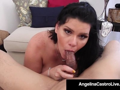 Cuban Princess Angelina Castro Gets Load of Cum On Her Tits!