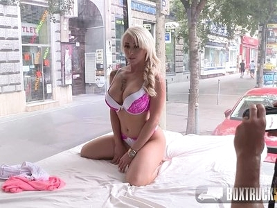 Hot Christina Shine masturbates in Public