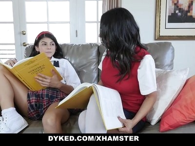 Dyked - Petite Teen Dominated & Fucked By Tutor