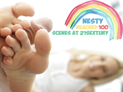 Super hot foot fetish and cocksucking compilation with Nesty