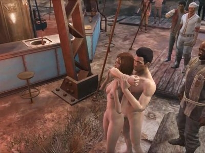 Fallout 4 public gangbang at Diamond City
