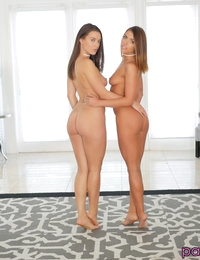Stepsisters Lana Rhoades & Adriana Chechik call their boyfriends over for orgy