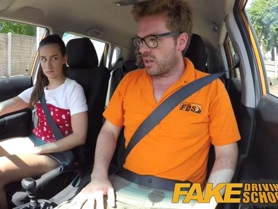 Fake Driving School Sexy horny learners secretly fucks