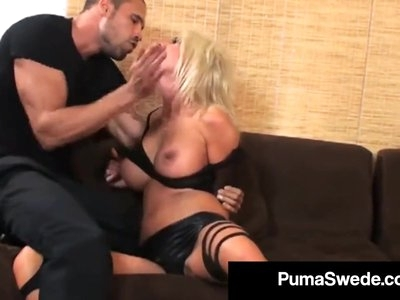 Horny Euro Hottie Puma Swede Gets Cunt Pounded & Cummed On!
