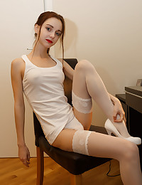 This horny teen likes to educate her in the art of sexuality in the most impressive way.
