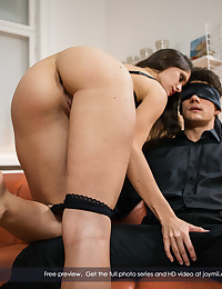Lana likes it rough and wild. One of her favorite games is to blindfold her man and give him a big treat. First she strips, then she lets him smell her panties, then it's down on his cock for some deep, hard sucking. Once he's stiff and long, she pulls him into her pussy and begs to be fucked. Ripping his blindfold off, he gives it to her in every position imaginable. Pumping and pleasing his woman, she moans and shrieks in carnal delight. This is indeed very special sex. Pure, desperate, frenzied, and mutual. Exactly as it should be.