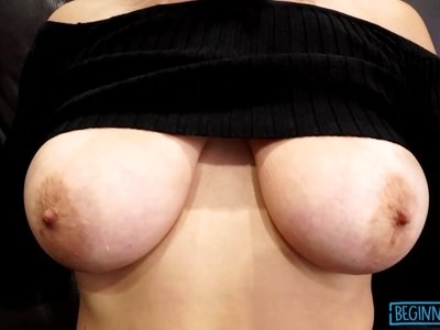 Busty babe Brooke bouncing on cock until a creamy ending