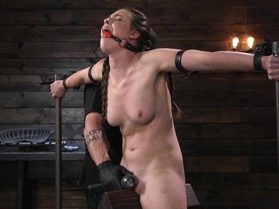 Porn Goddess Casey Calvert Ass Fucked and Tormented in Metal