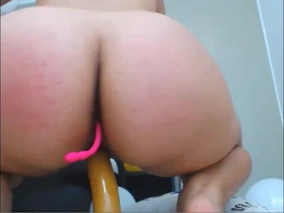 Busty Latina Babe Spreading Ass Open With Vibrator