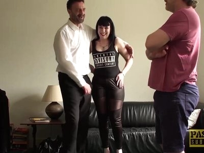 Cum tasting subslut tied up and rammed hard by maledom