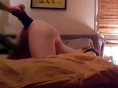 Girlfriend fucking me with XL Beowulf by Mr. Hankey's Toys