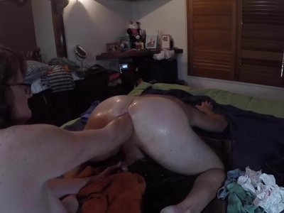 Deep anal fist fucking and almost 2 hands in