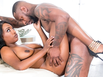 Daya Knight in sexy lingerie attracts cock into her pussy.