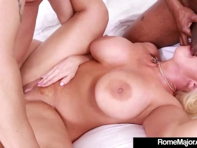 Blonde 40yo Alura Jenson Gets White Cock & BBC By Rome Major