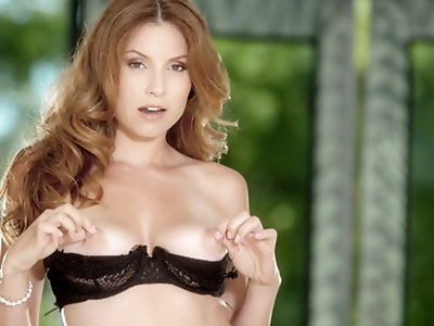 In this HD scene, Jamie starts with an insanely hot strip-tease before touching herself until she comes.