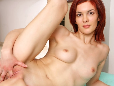 Adela Flexs Her Body in the Nude