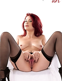 new redhead debutante: stripping and toying