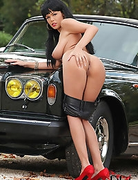 Czech Babe Linet Masturbates with a Vibe Atop a Rolls Royce