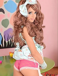 Russian Cosplay Cutie Foxy Di Fingers Her Sweet Shaved Slit