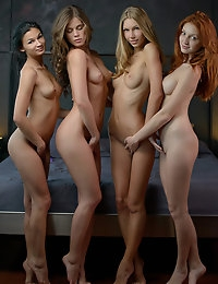If ax^2+bx+c=0, then what is x? If you're not a math expert, then you should probably let four of the SEXIEST women on the planet get naked, fuck each other, and then give you a hand with the answer (or at least distract you from caring). This foursome is a beautiful neopolitan of EXCLUSIVE X-Art sexiness. You will looooove their skill set and how these ladies will show you how they make each other cum! Ready to study some algebra or what's that long word for pussy eating? Cum solve this quadratic sexquation!