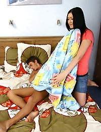 Vanessa is a hot Russian beaut with long dark hair and perky tits. She decided to amaze her boyfriend with a hot morning blowjob. Well, the guy absolutely doesn't mind to get his dick sucked, and after getting it hard, he will fuck Vanessa's pussy in various positions. Vanessa will scream and moan from his thrusts, and in the end her pussy will be filled with hot jizz.