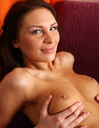 Passionate Cecelia looks striking and while doing sexy poses naked