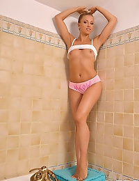 Blanca Brooke having a shower