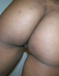 Horny black girlfriend takes selfshot pictures of her round tight ass