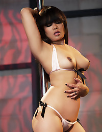 Annie Cruz is making herself horny by dancing on a pole when she finds Danny Wylde to play with.