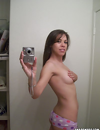 Sexy girlfriends taking selfshot naked pictures for their boyfriends