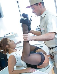 Isabella De Santos is a woman who knows what she wants, and knows exactly how to get it. When a sexy delivery man shows up at her office, she does a little more than sign for the package, she takes it out and strokes it too! Isabella takes that delivery dick deep inside her waiting wet pussy, legs quivering with the erotic excitement of a fantasy come to life. Live out Isabella's passion and pleasure one thrust as a time as Ryan plunges deep inside her and she rides him all the way to extacy!