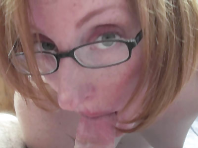 Redhead housewife Layla Redd is down on her knees for a hot point of view blowjob