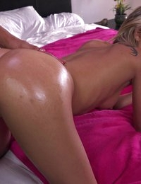 Blonde spinner Dakota Skye gets her pert little ass fucked hard and fast in a wild anal ride that ends with a sticky facial