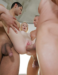 Tiny Maddy wants to do her first gangbang on camera