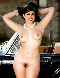 Valentina Nappi loves fingering her pussy sitting from her vintage car